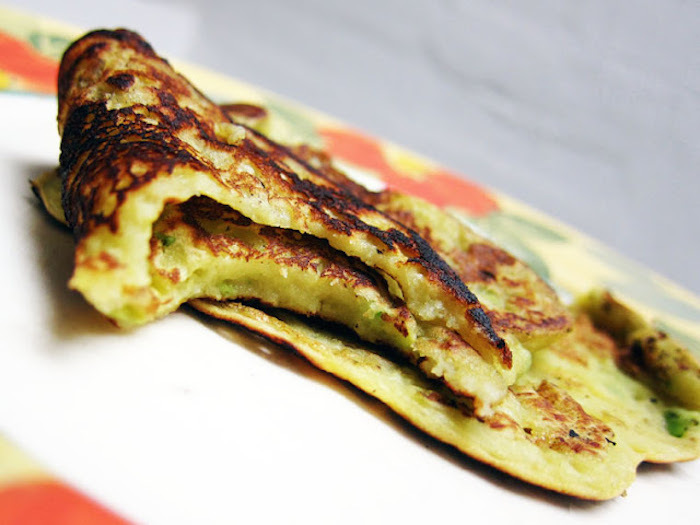 "<strong>Get the <a href=""http://theindolentcook.blogspot.com/2010/10/avocado-banana-pancakes.html"" target=""_blank"">Banana Avo"