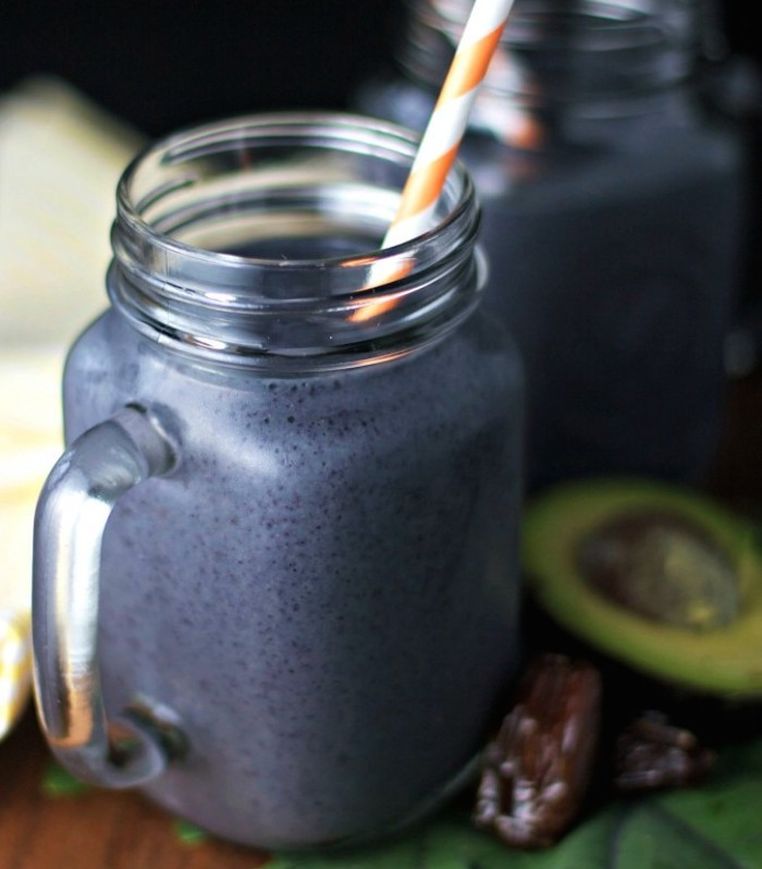 "<strong>Get the <a href=""http://www.beginwithinnutrition.com/2014/07/21/kale-avo-berry-smoothie/"" target=""_blank"">Kale Avocad"