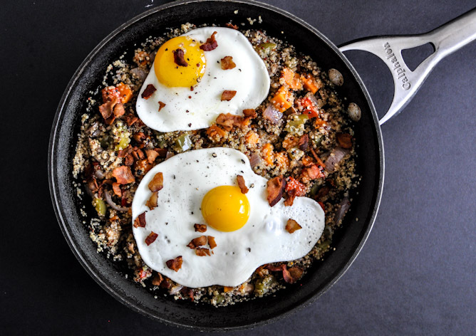 "<strong>Get the <a href=""http://www.howsweeteats.com/2012/08/quinoa-breakfast-skillet/"" target=""_blank"">Quinoa Breakfast Skil"