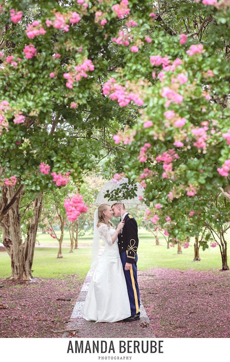 """""""They are both in the Army and were married at Fort Benning in the rain."""" - Amanda Berube"""