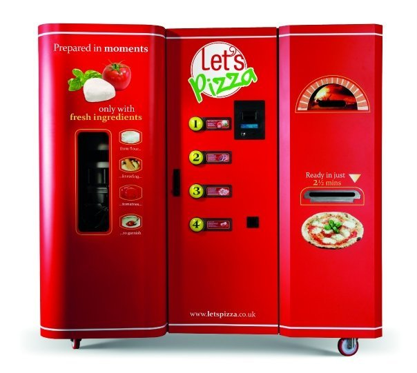 """<a href=""""http://www.letspizza.co.uk/"""" target=""""_blank"""">""""The world's first pizza vending machine""""</a> cooks an individual pie w"""