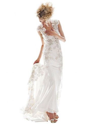 "Get it at <a href=""http://www.thebay.com/webapp/wcs/stores/servlet/en/thebay/brands/Kleinfeld-Bridal-WeddingGowns/arabelle-go"