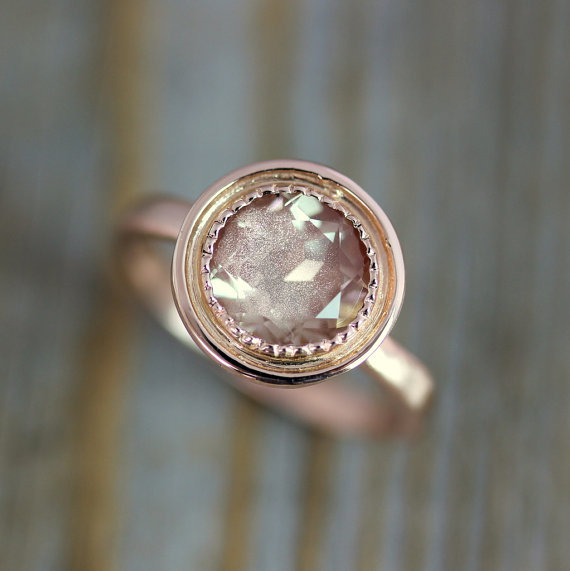 onegarnetgirl via etsy - Hippie Wedding Rings
