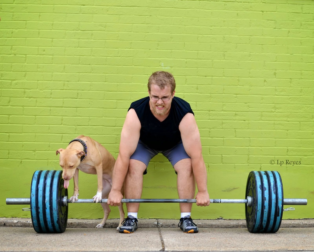 "These images come from a 2014 calendar featuring CrossFit athletes and adoptable dogs. <a href=""http://www.arottalove.org/inf"