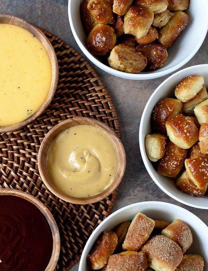 "<strong>Try the <a href=""http://www.annies-eats.com/2013/01/28/soft-pretzel-bites-three-ways/"" target=""_blank"">Soft Pretzel B"