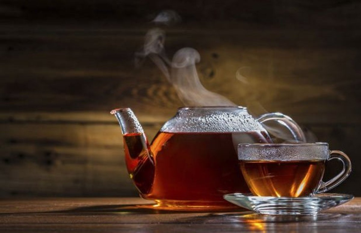 Tea has many great health benefits, but black teas and other dark-hued teas can cause teeth staining. Try adding some milk in