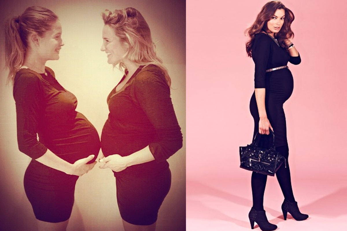 "<a href=""http://www.seraphine.com/us/black-maternity-dress.html"" target=""_blank"">Black Shift Maternity Dress</a>, $67"