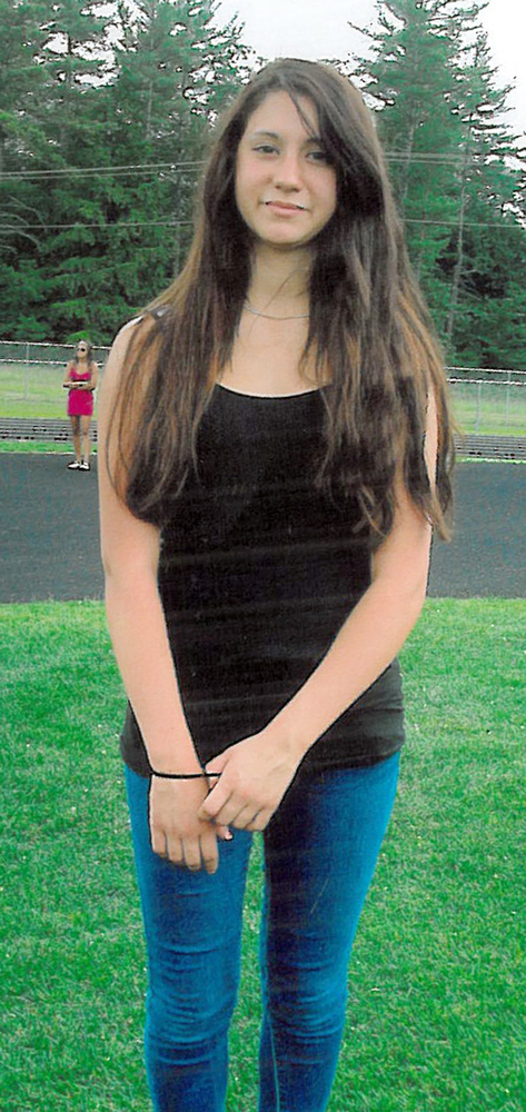 FILE-Conway, N.H. police released this photo of 14-year-old Abigail Hernandez of North Conway, N.H. Thursday Oct. 10, 2013. S