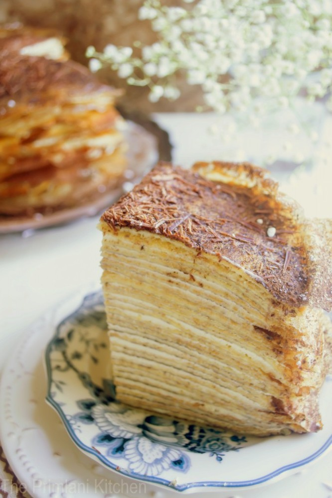 "<strong>Get the <a href=""http://www.theprimlanikitchen.com/delicate-crepe-cake-a-slice-of-heaven-in-each-bite/"">30 Layered Ti"