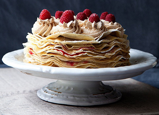 "<strong>Get the <a href=""http://whipperberry.com/2012/08/biscoff-raspberry-crepe-cake-recipe.html"">Biscoff & Raspberry Crepe"