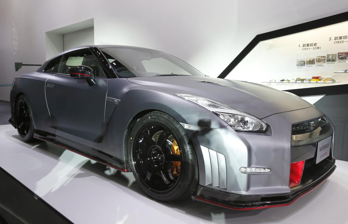 "A <a href=""http://www.caranddriver.com/reviews/2015-nissan-gt-r-gt-r-nismo-first-drive-review"" target=""_blank"">Nissan GTR Nis"
