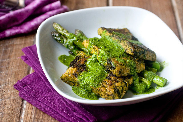 """<strong>Get the <a href=""""http://food52.com/recipes/25765-tempeh-chimichurri"""" target=""""_blank"""">Tempeh Chimichurri recipe</a> fr"""