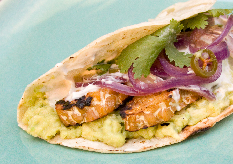 """<strong>Get the <a href=""""http://food52.com/recipes/18600-tempeh-tacos"""" target=""""_blank"""">Tempeh Tacos recipe</a> from savorthis"""
