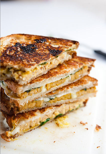 """<strong>Get the <a href=""""http://www.veggiebelly.com/2012/06/curried-tempeh-grilled-cheese-sandwich-with-mango-chutney.html"""" t"""
