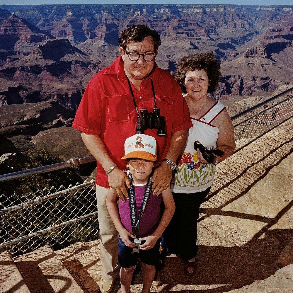 Man with Red Shirt with Family at South Rim, Grand Canyon National Park, AZ 1980