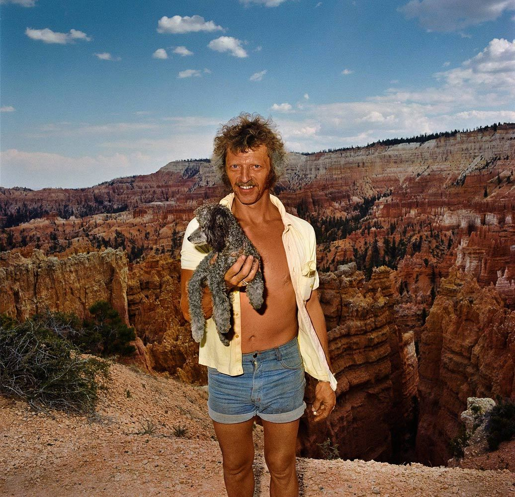 Man with Dog at Sunset Point Bryce Canyon National Park UT 1980