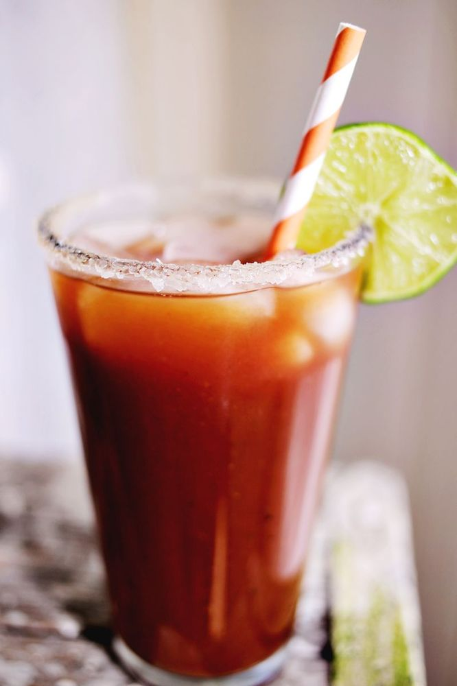 "<strong>Get the <a href=""http://www.abeautifulmess.com/2013/08/sriracha-bloody-mary.html"" target=""_blank"">Sriracha Bloody Mar"