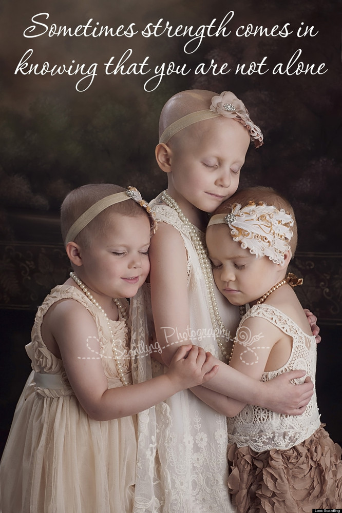The original picture of the three girls that went viral in April.