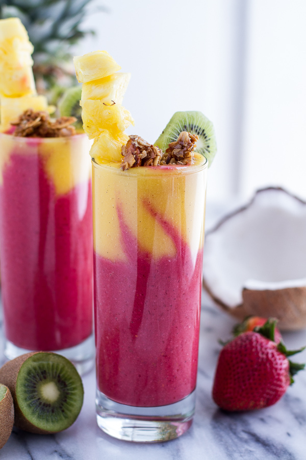 """<strong>Get the <a href=""""http://www.halfbakedharvest.com/tropical-fruit-breakfast-smoothie/"""" target=""""_blank"""">Tropical Fruit B"""
