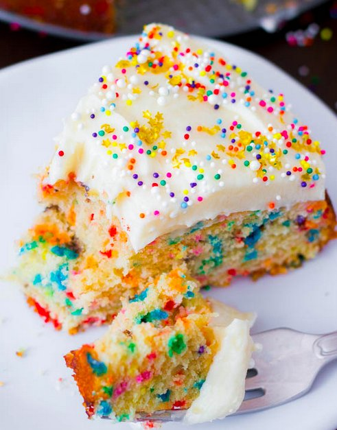 "<strong>Get the <a href=""http://sallysbakingaddiction.com/2013/03/19/easy-homemade-funfetti-cake/"" target=""_blank"">Easy Funfe"