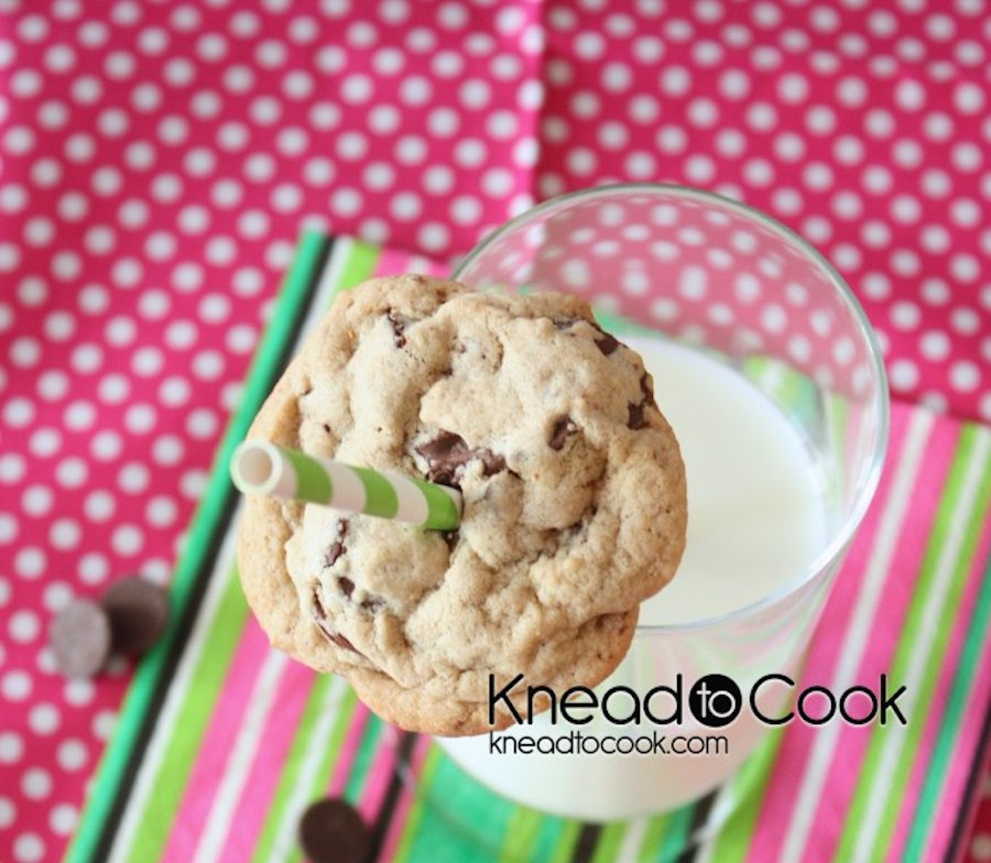 """<strong>Get the <a href=""""http://kneadtocook.com/pb2-chocolate-chip-cookies/"""" target=""""_blank"""">PPB2 Chocolate Chip Cookies</a>"""