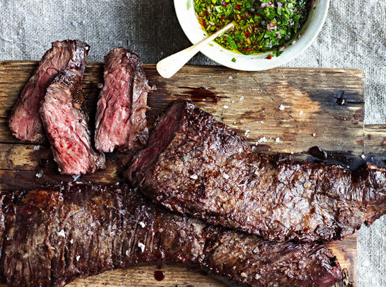 """<strong>Get the <a href=""""http://food52.com/recipes/22170-skirt-steak-with-chimichurri-sauce"""" target=""""_blank"""">Skirt Steak with"""