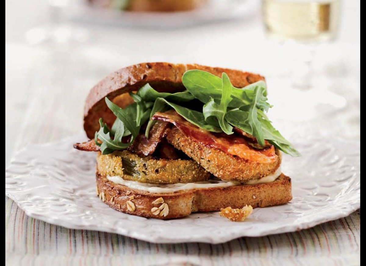 Take your regular BLT up a notch with cornmeal-dusted fried green tomatoes in place of regular red slices. If you cannot find