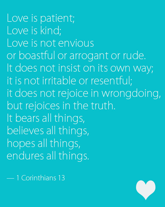 """Love is patient, love is kind…you might be able to recite <a href=""""http://www.yourchurchwedding.org/readings/1-corinthians-13"""