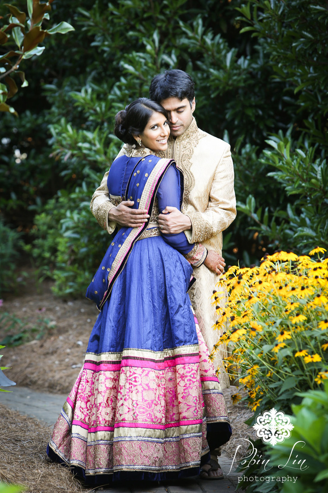 """Aparna and Ankith after their beautiful ceremony on Saturday in North Carolina."" - Robin Lin"