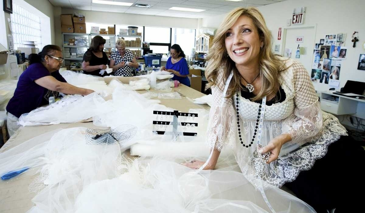 Robin Mayer, a former corrections officer, decided to try her hand at making bridal accessories.  Last year alone, her design