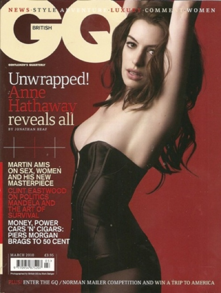 While Anne Hathaway looked stunning on British GQ's February 2010 issue, something's not quite right with her ultra-smooth ar