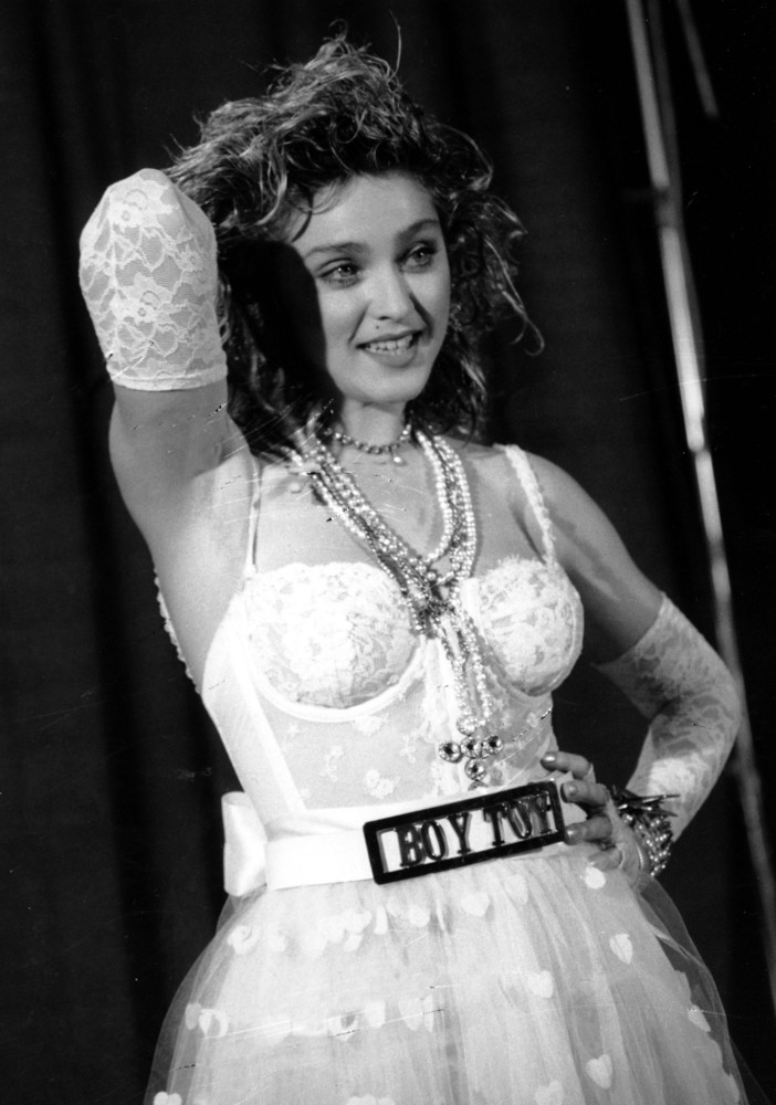Madonna poses at the MTV Video Music Awards on Sept. 14, 1984, in New York's Radio City Music Hall.  The singer was nominated