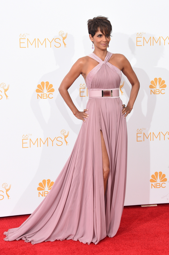 LOS ANGELES, CA - AUGUST 25:  Actress Halle Berry poses in the press room during the 66th Annual Primetime Emmy Awards held a