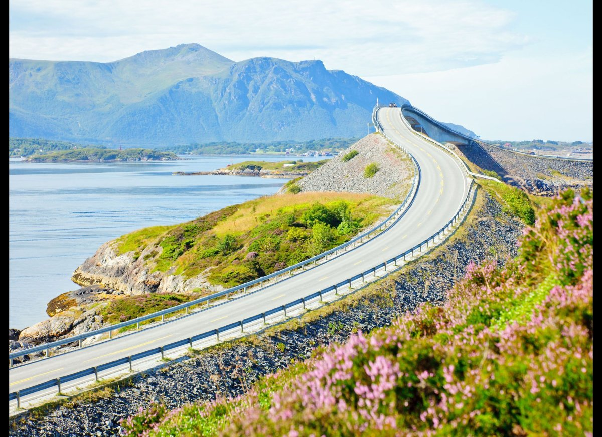 """<strong>The Atlantic Ocean Road, Norway</strong>  """"The Atlantic Ocean Road, Norway—a short but breathtaking drive, winter o"""