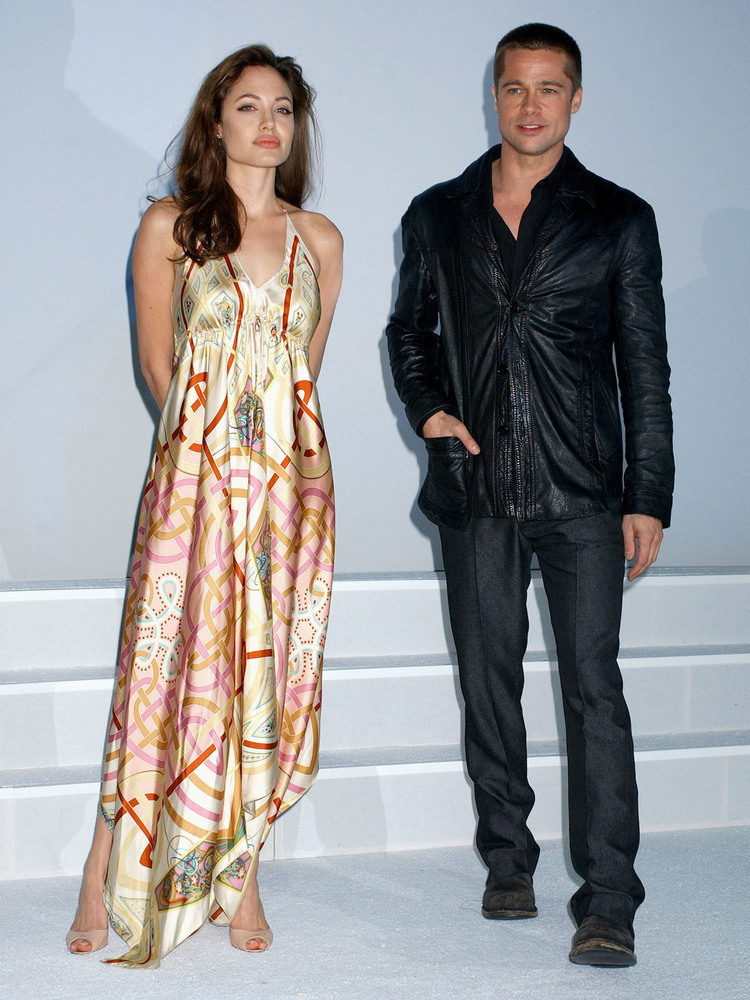 Angelina Jolie and Brad Pitt make a public appearance in 2005