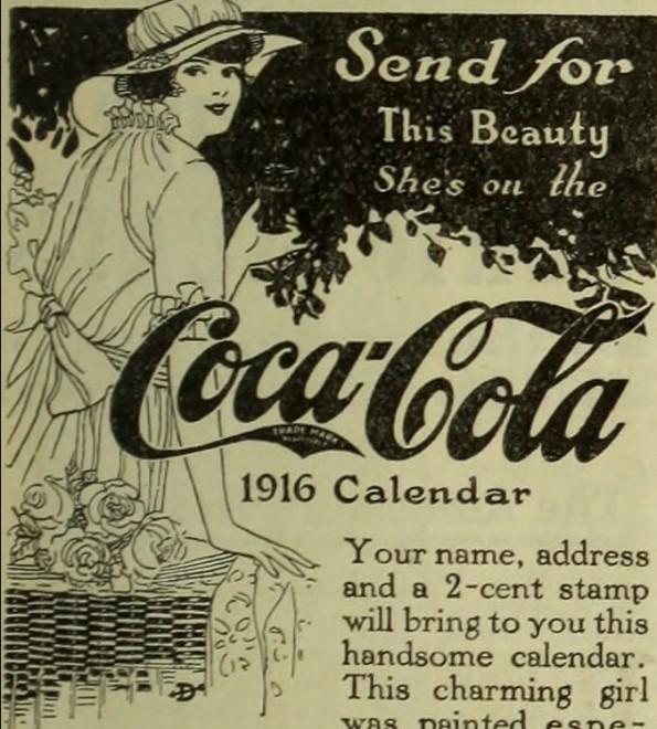 Pubblicità della Coca-Cola dei primi del '900
