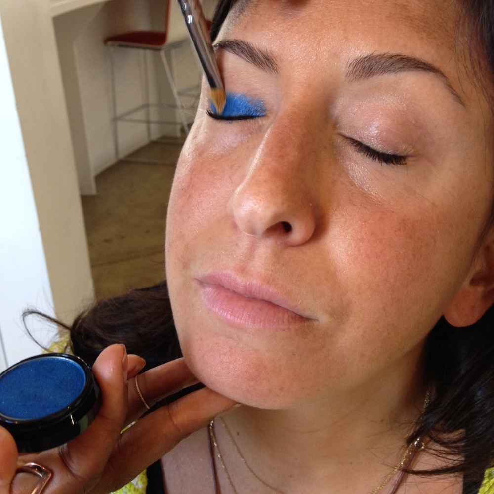 """Start with clean skin and eyes. Using <a href=""""http://www.covergirl.com/beauty-products/eye-makeup/eyeliner/waterproof-eyelin"""