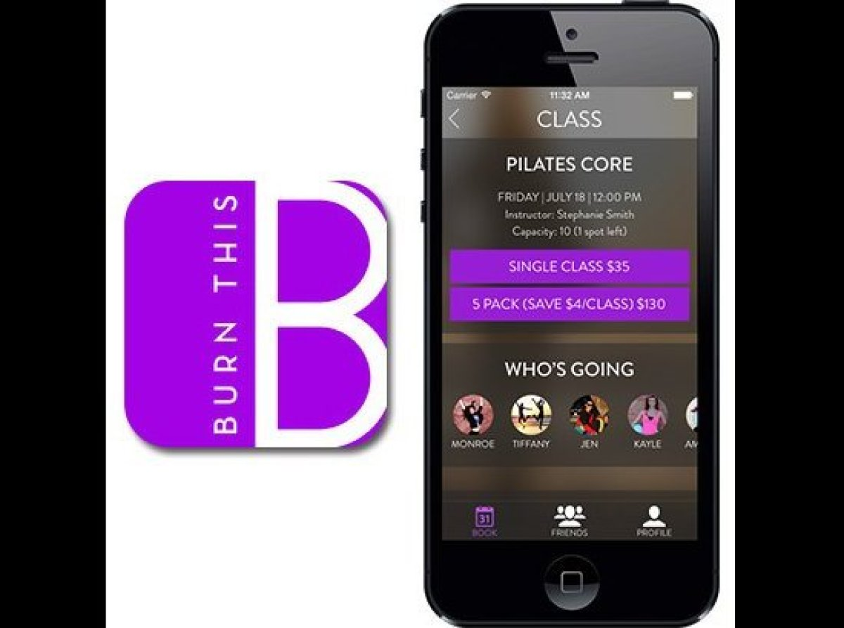 """""""This is a newer app but one I am personally absolutely in love with. BurnThis shows you the upcoming class times at multiple"""