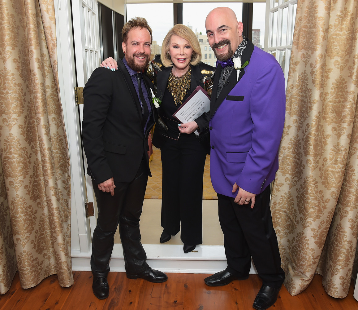 """Last month Rivers <a href=""""http://www.huffingtonpost.com/2014/08/21/joan-rivers-officiates-gay-wedding-_n_5696137.html"""" targe"""
