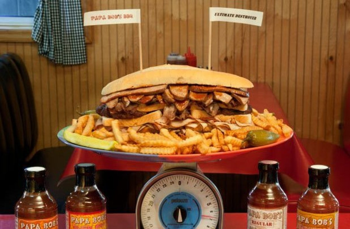 """Kansas City is known for its insane barbecue, and Papa Bob's takes this insanity to the next level with its """"Ultimate Destroy"""