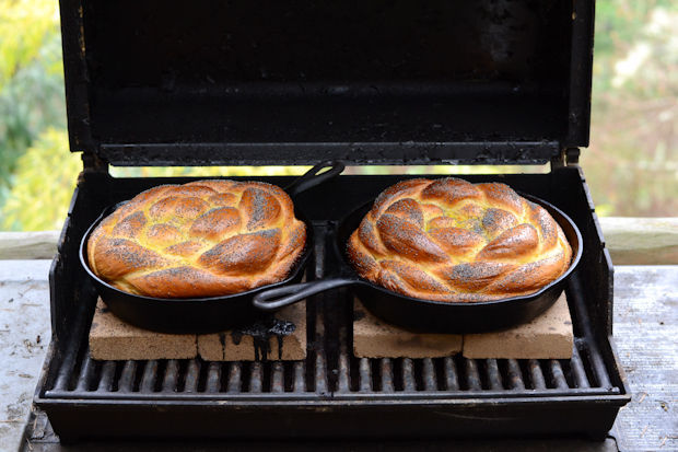"""<strong>Get the <a href=""""http://food52.com/recipes/22766-challah-baked-on-the-grill"""" target=""""_blank"""">Challah Baked on the Gri"""