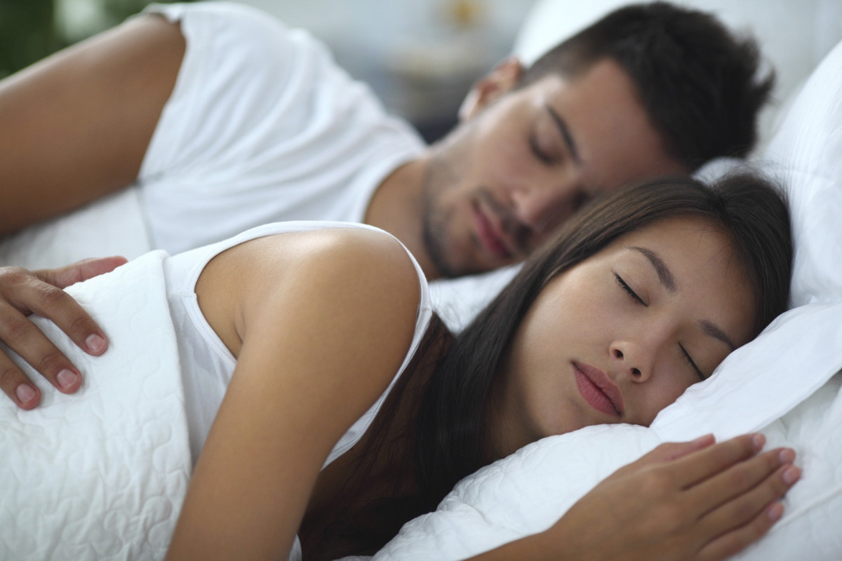 <strong>What you do: </strong>You and your partner fall asleep at the same time at night and wake up at around the same time