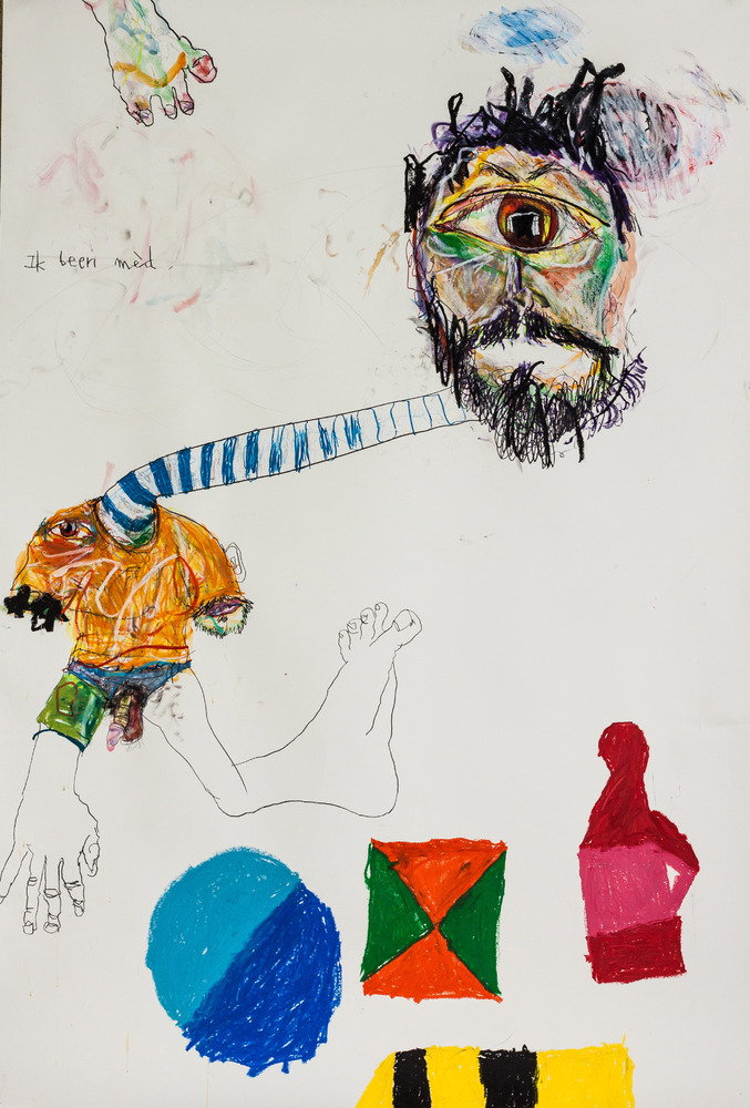 Berlin, ik been med, 31.05.2012 Pencil, acrylic, oil pastel and watercolor on paper 93 x 61.5 x 2.5 inches / 236.2 x 156.2 x