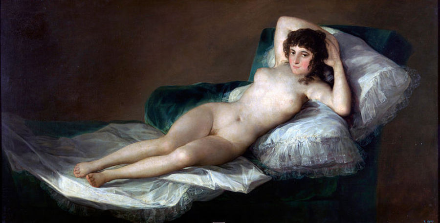 "This circa 1800 painting will go down in history as ""the first totally profane life-size female nude in Western art -- though"