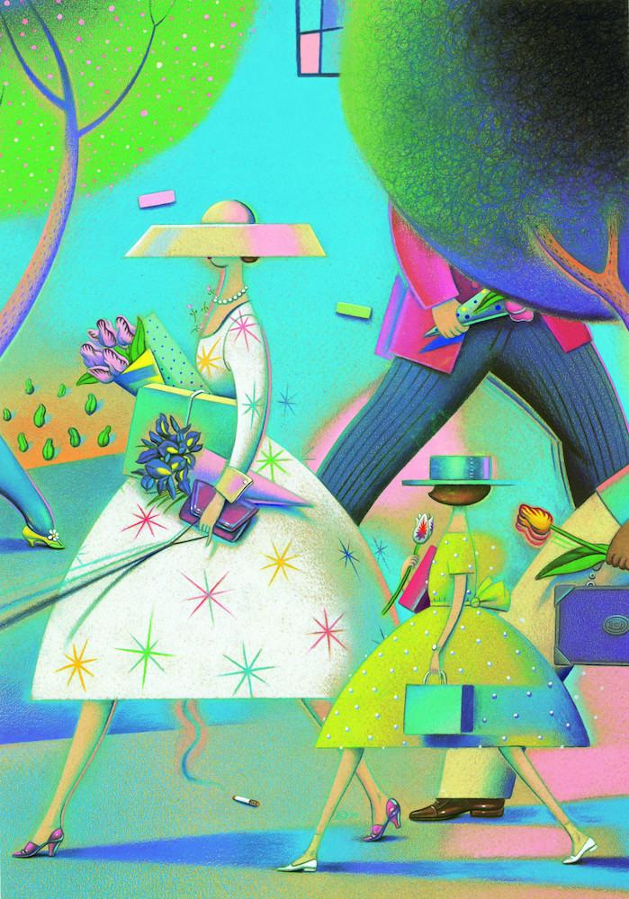Spring, 2000, Dave Calver, American Showcase, cover; colored pencil, marker and acrylic