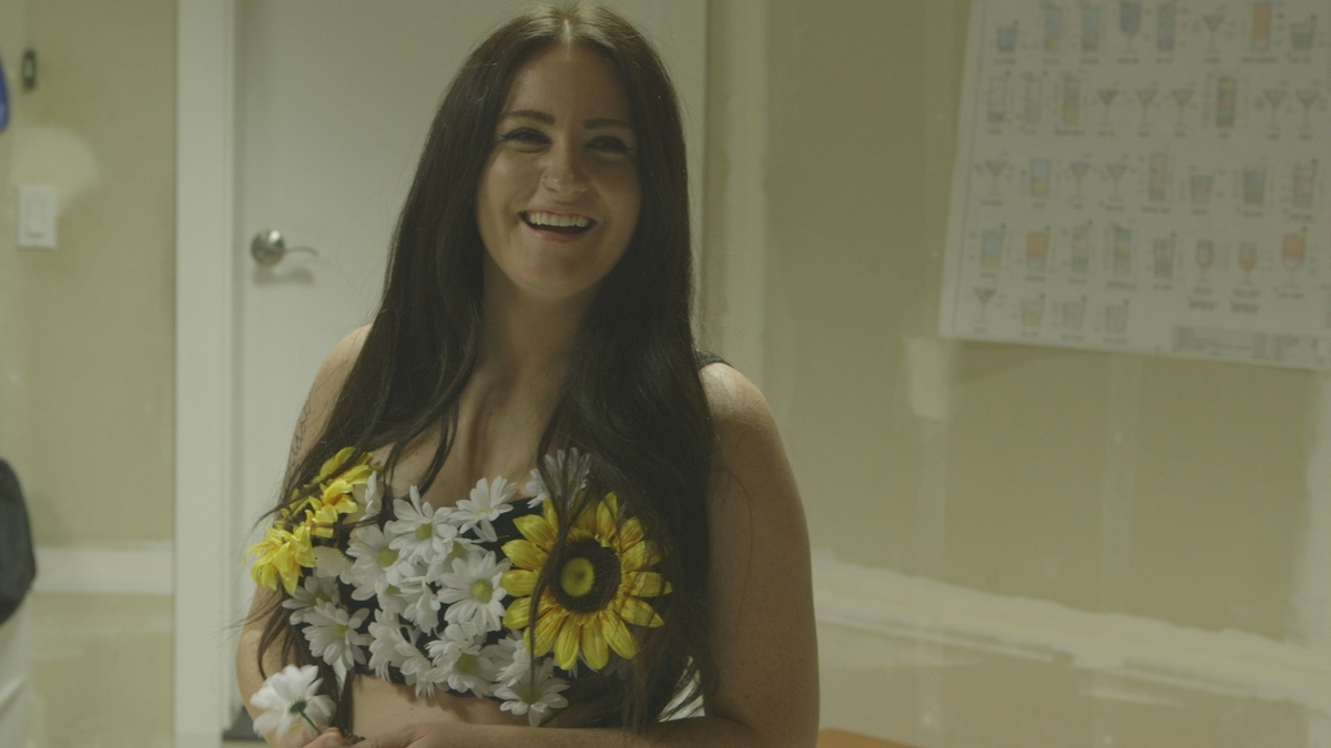 """Mikaela Sims in a still from MTV's """"Virgin Territory."""""""