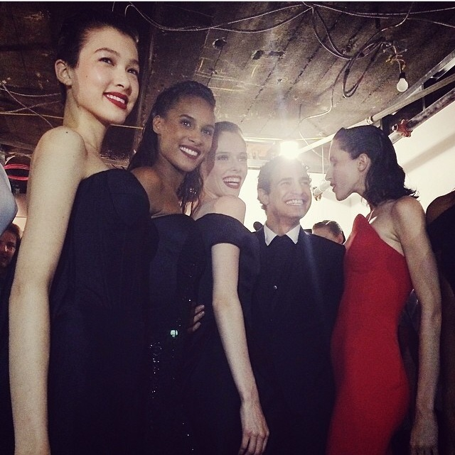 Backstage at Zac Posen. Congrats on a beautiful show!