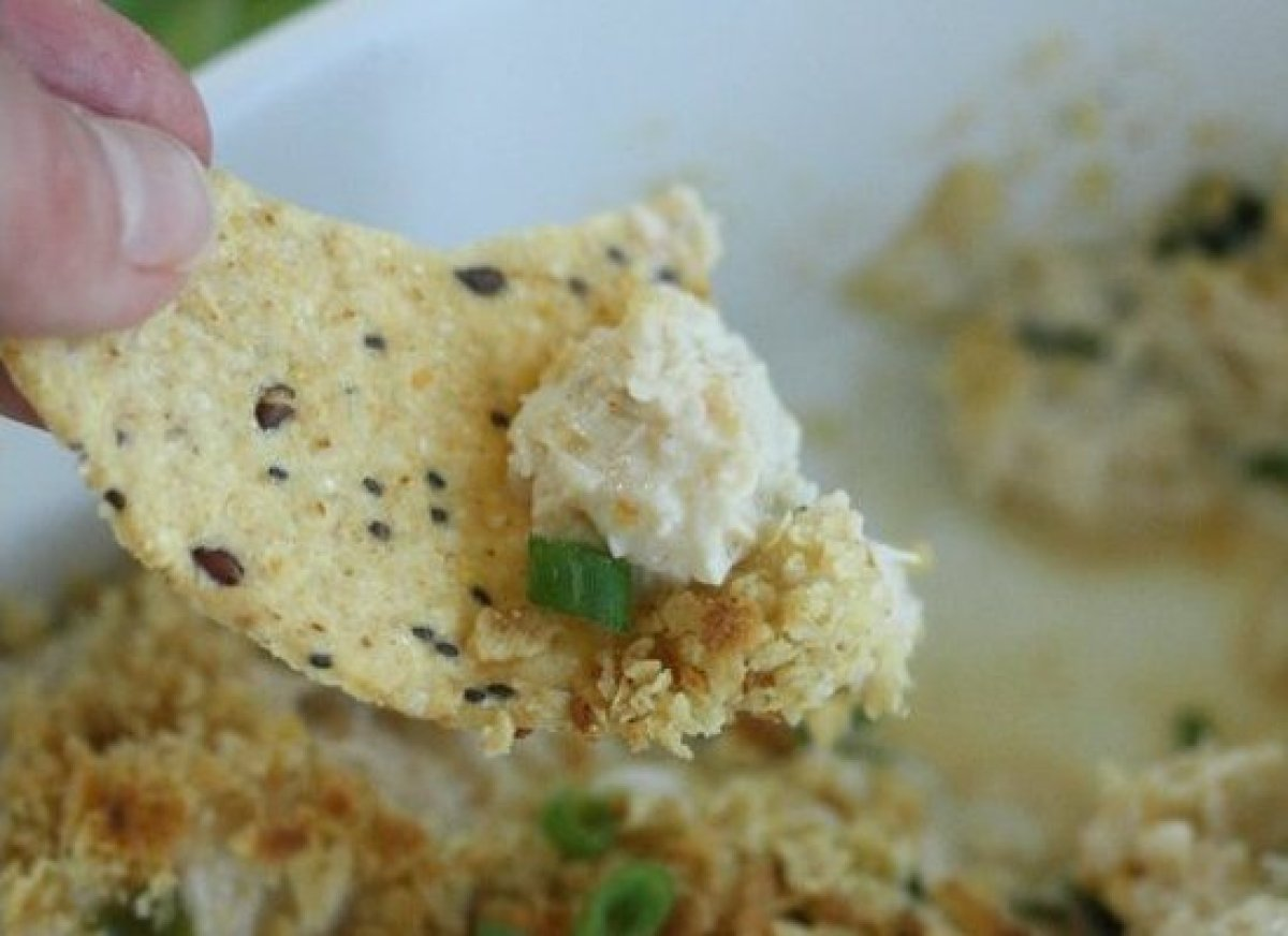 This gluten-free hot crab dip has a great southwestern flavor and features a nice kick from a mixture of jalapenos, scallions