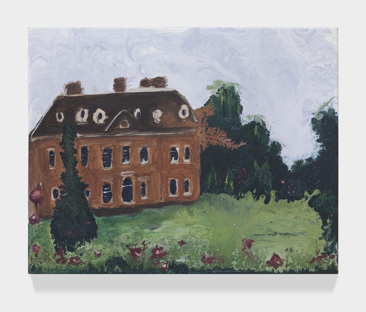"""Brown house   15.7"""" x 19.6""""  Acrylic on canvas  2014"""
