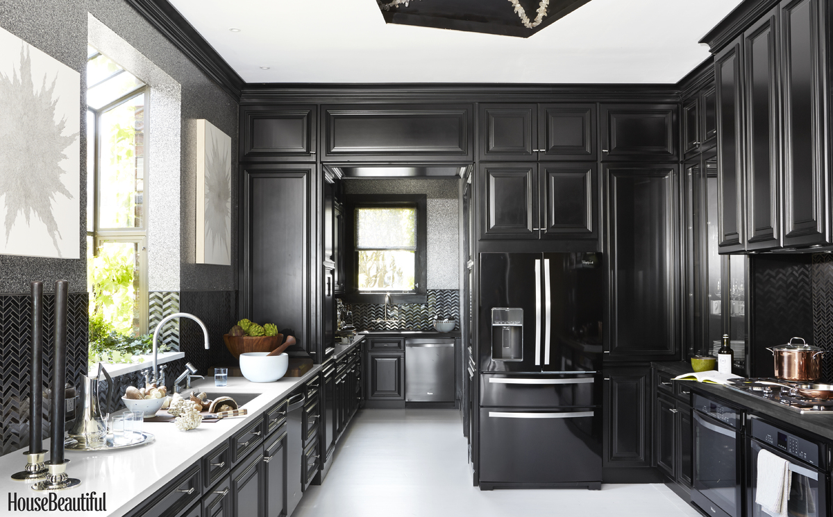 Moody kitchen cabinets are here to stay...